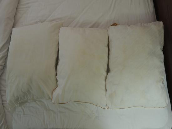 Whitefish, Canada: Stained pillows