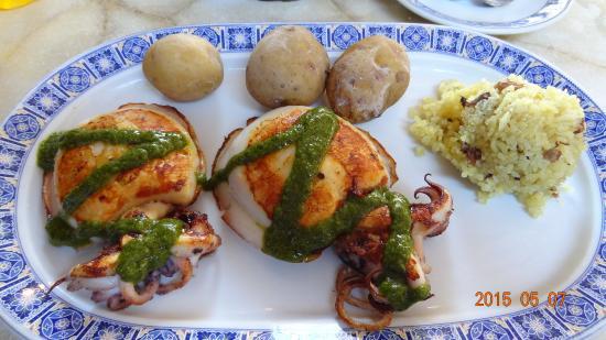 Restaurante Abisinia: Grilled octopus or cuttlefish