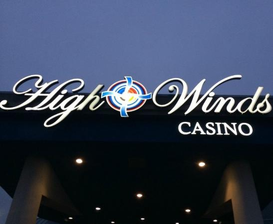 Miami, OK: Front Sign of Casino