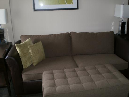 HYATT House Richmond-West: This couch folds out to a bed.