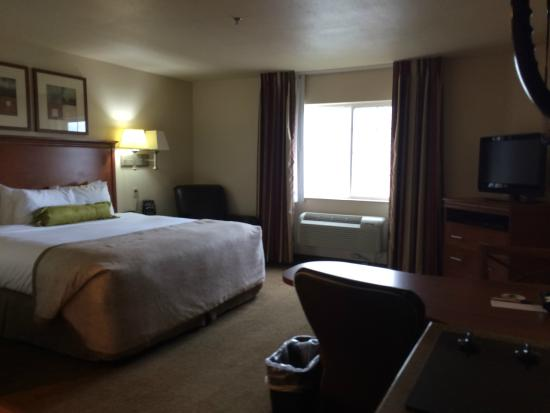 Candlewood Suites Springfield: Bed from kitchenette