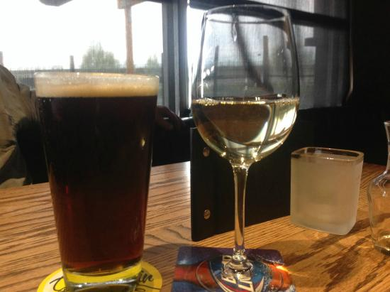 Honey brown draught and chardonnay, Original Joe's  |  935 Central Avenue North, Swift Current,
