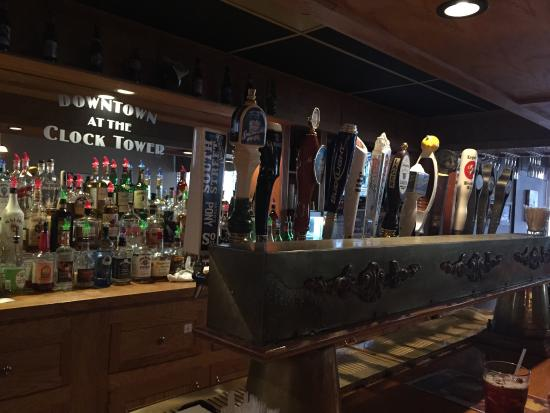 Clocktower Restaurant & Bar : Great bar selection