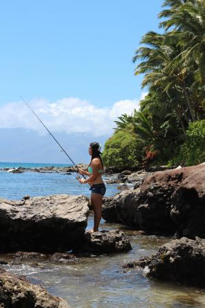 Kahana shore picture of all about fish lahaina for Shore fishing maui