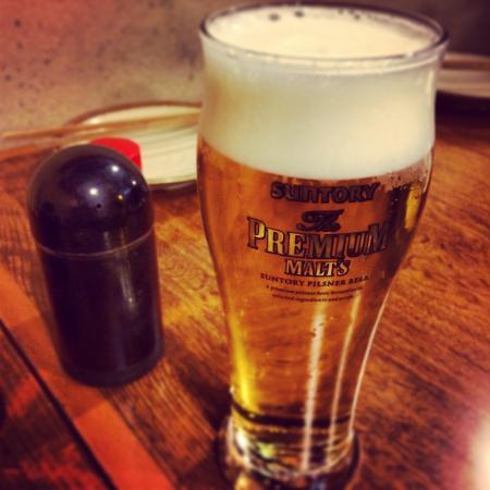 Seafood Bar Tsukiji Totokichi: beer