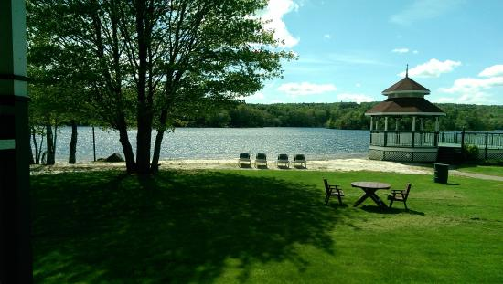 Inn on the Lake: view from the beach chair pavilion