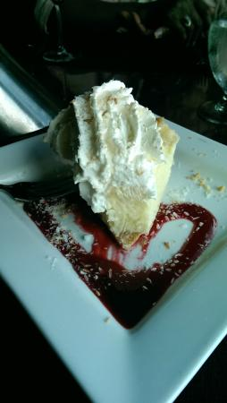 Inn on the Lake: home made coconut cream pie, tender, buttery crust