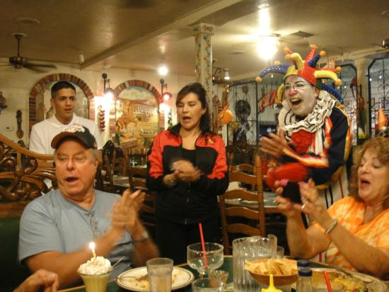 Pepe Delgado's Mexican Restaurant : Waitress and Manager singing Happy Birthday