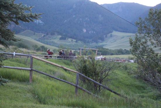 HF Bar Ranch: Heading out on an evening ride