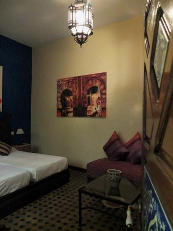 Riad Assilah: Twin room on ground floor