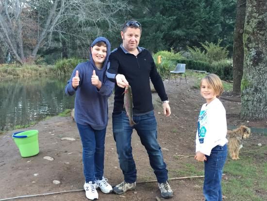 Harrietville, Australia: Kids say catching the fish was the best part of the day!