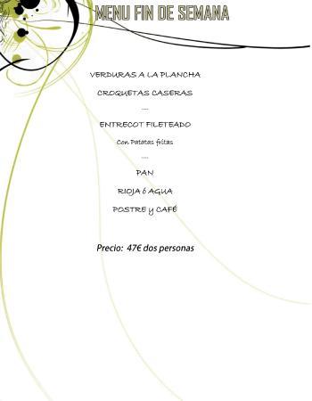 Restaurante Casa Caro: MENU PARA 2 PERSONAS