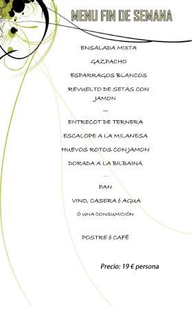 Restaurante Casa Caro: MENU INDIVIDUAL