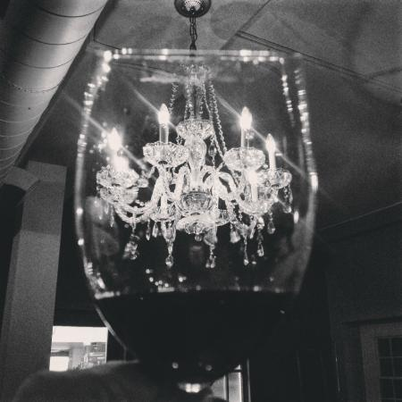 East & Main Bistro: Everything sparkles beneath a chandelier.
