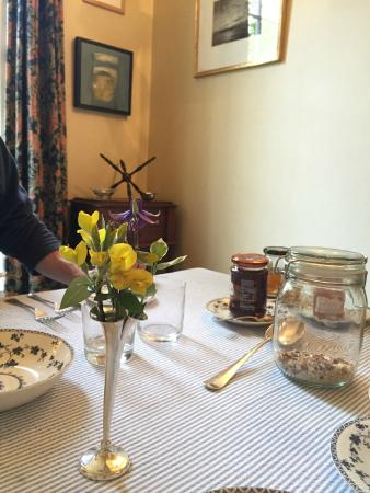 Tantallon Place Bed and Breakfast: Flowers from the garden on the breakfast table