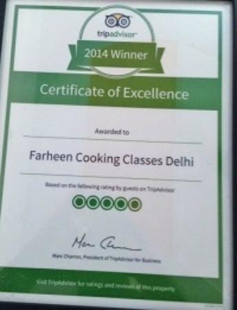 Farheen Cooking Classes Delhi