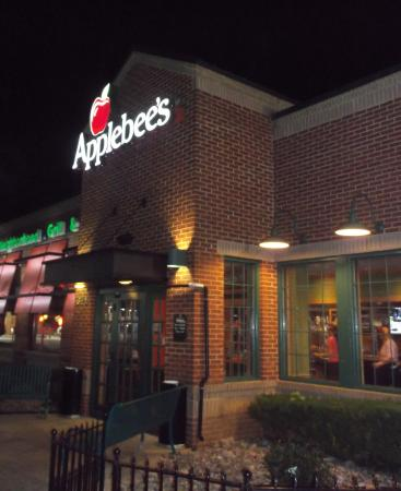 Applebee's: At night when we came out