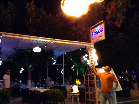 Limos Restaurant Kalkan : Omar back to orıginal restaurant LİPSOS on the harbour front
