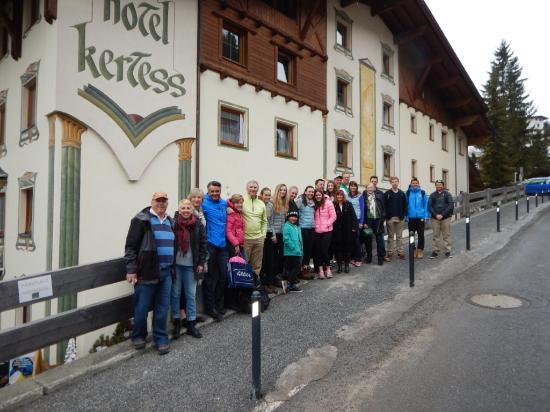 Hotel Kertess: Heading home after a week of perfect on the slopes.