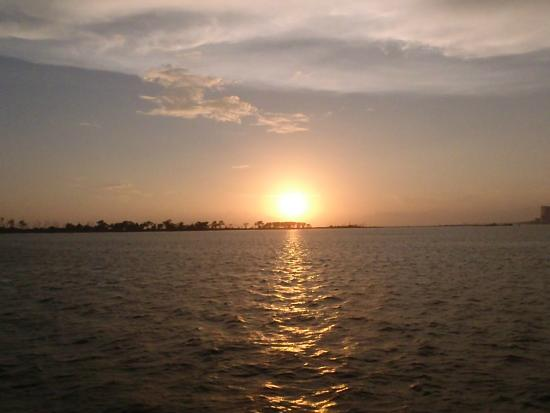 Gulf coast sunset picture of the biloxi fishing trip for Mississippi fishing license cost