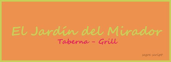 El Jardin del Mirador: logo