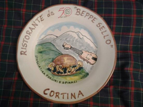 Hotel da Beppe Sello: The Buon Ricordo plate