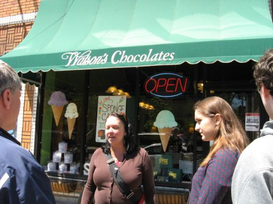 Buffalo Bites Food Tours: Wilson's chocolates - sponge candy and sponge candy ice cream