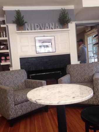 Nirvana Coffee Company: It is right across  from the courthouse on Main Street this place has good  fresh sandwiches and