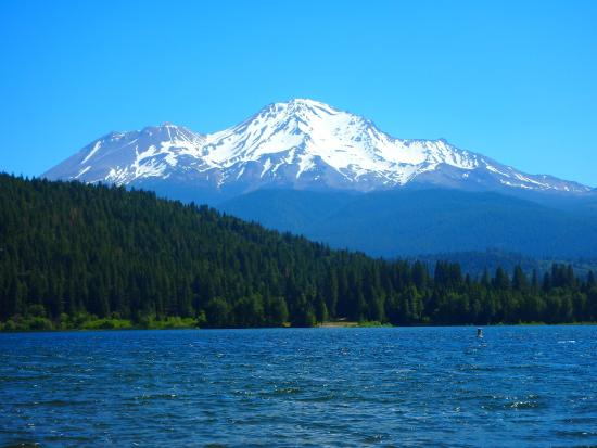 Lake Siskiyou Camp - Resort: view from the beach.