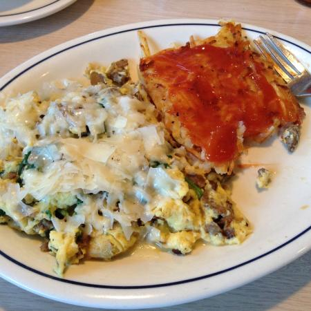 IHOP: I put ketchup on my hash browned potatoes.