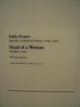 The Art Institute of Chicago: Head of a Woman - Pablo Picasso