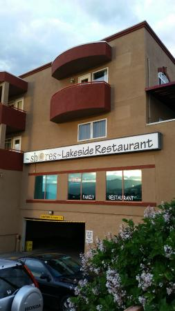 The Sol Grill Room: Restaurant signage from the street, Sol  |  7906 Main Street (at the Holiday Inn), Osoyoos, Brit