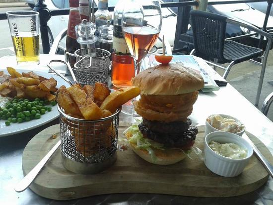 Farrers Bar & Brasserie: The massive Tower Burger.