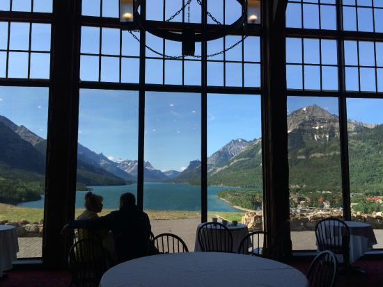 Prince Of Wales Hotel View Waterton Lake From The