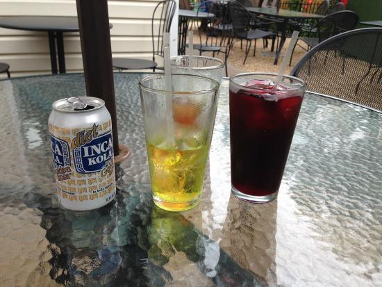 Lambertville, NJ: Inka Cola (diet, no less) and a hisbiscus drink