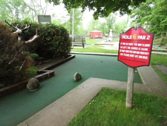 Red Putter Mini Golf : Red Putter: rhymes at every hole.