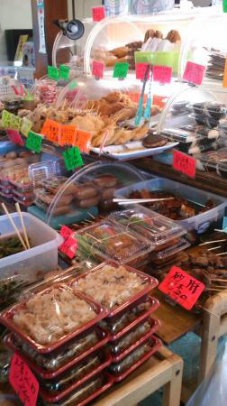 Michi-no-Eki Furari Tomiyama: 食品販売のお店1