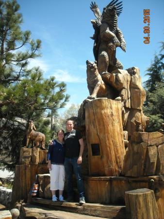 Downtown Idyllwild - wildlife carving