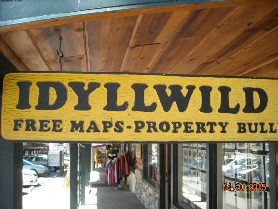 Idyllwild, CA: Sign