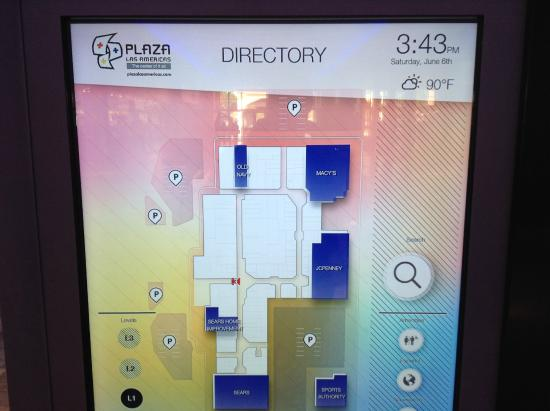 Wayfinder to help you find your store of choice. - Picture of Plaza ...
