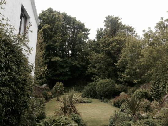 View of the back garden at Altamont B&B in Westport, County Mayo, Ireland