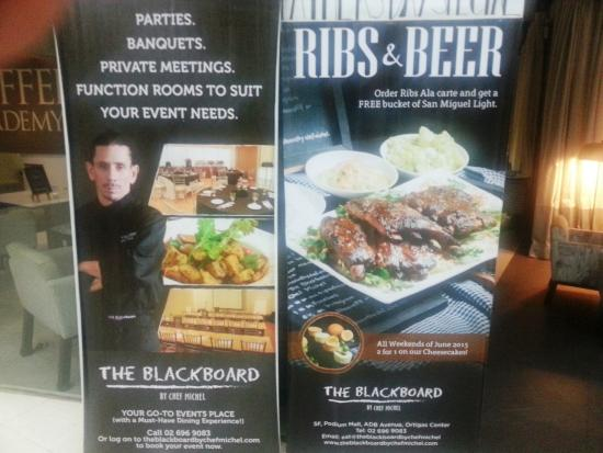 The Blackboard by Chef Michel: Chef Michel's sale pitch