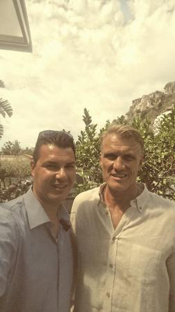 Sicily Limousine Service Day Tours: Our driver Claudio with Dolph Lundgren during Taormina Film Festival 2015