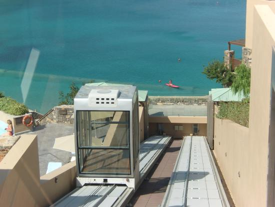 Daios Cove Luxury Resort & Villas: The Funicular