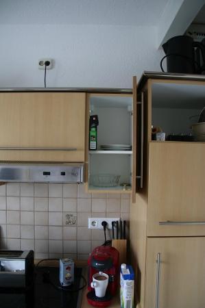 """Gut am Strand - Teichhof Fehmarn: Die """"gut"""" ausgestattete Küche"""