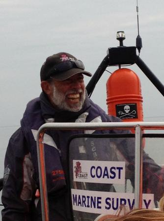 Ocean Breeze Rib Tours: Skipper Russ letting it rip in Lamlash