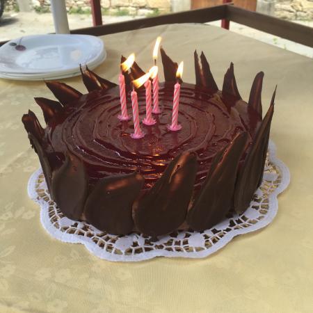 Osteria Alla Villa: Special Birthday cake