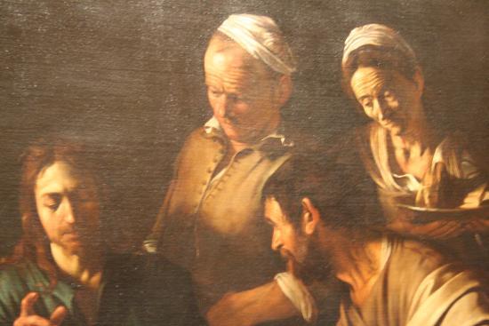 Cena di emmaus caravaggio picture of pinacoteca di brera for Caravaggio a milano