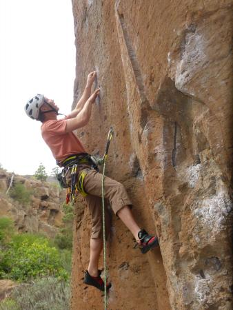 Ipstones, UK: Sport climbing in Tenerife with Rock Climbing Peak District