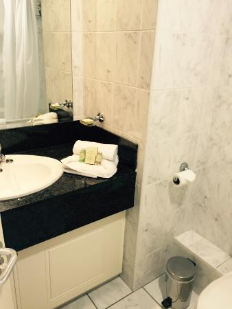 Carrigaline Court Hotel and Leisure Center: Beautiful food, not so beautiful bathroom.
